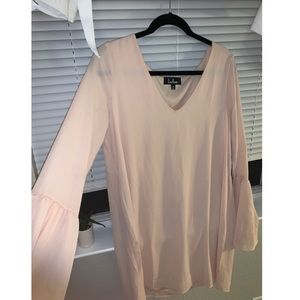 LULU'S FLOWY PINK DRESS